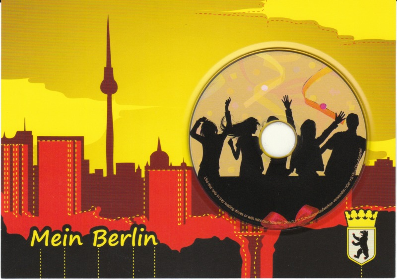 Berlin CD-Postkarte mit Party CD-R