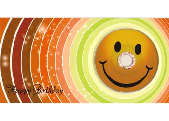 Happy Birthday Smiley DIN lang mit CD-R